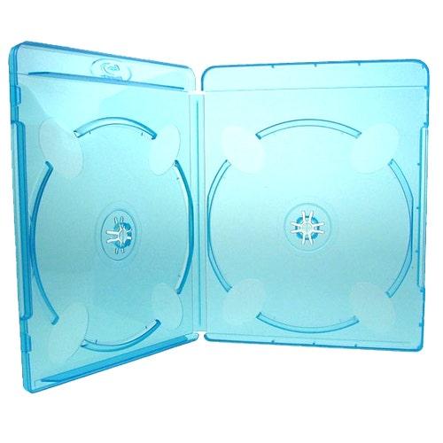 Polyline 2-Disc Blu-ray Case - Polypropylene - Overlay & Silver Embossed Blu-ray Logo