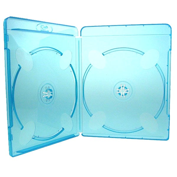 Polyline 2-Disc Blu-ray Case - Polypropylene - Overlay & Silver Embossed Blu-ray Logo