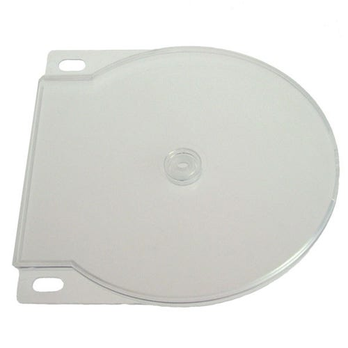 Polyline 2-Disc Clamshell CD/DVD Case - Clear - Polypropylene - Binder Holes