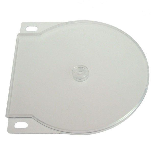 Polyline 2-Disc Clamshell CD/DVD Case - Clear - Polypropylene - Binder Holes