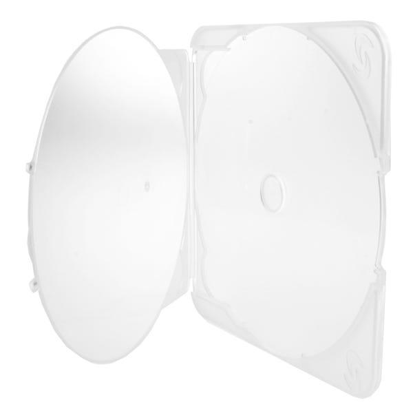 Polyline PL-TRIM Clamshell CD/DVD Case - Clear - Polypropylene