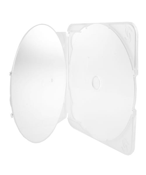 Polyline PL-TRIM Clamshell CD/DVD Case - Clear - Polypropylene