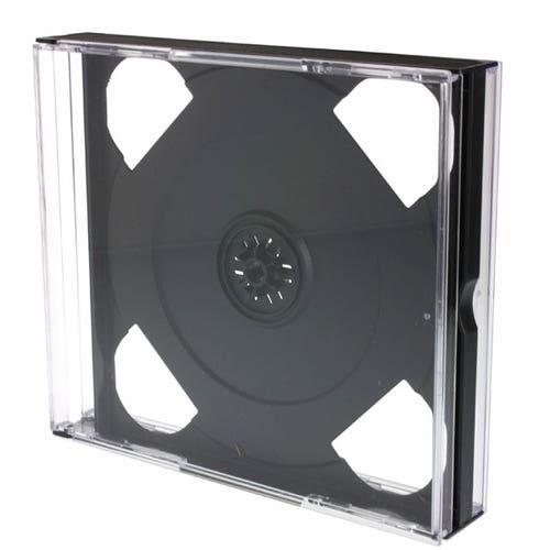 Polyline 4-Disc Unassembled  Chubby Jewel Case - Clear