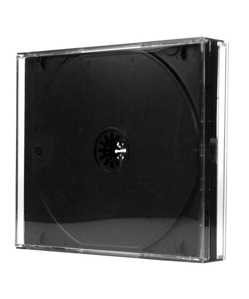 Polyline 2-Disc Assembled  Chubby Jewel Case - Clear Black Tray