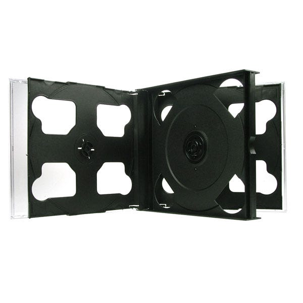 Polyline 6-Disc Assembled Chubby Jewel Case - Clear Black Tray