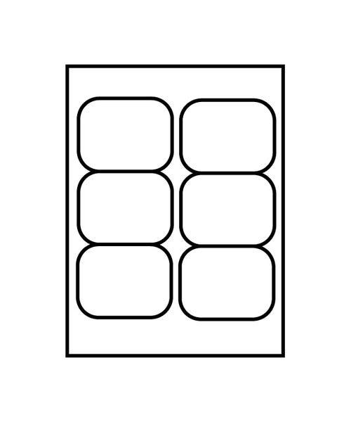 """Polyline 2-5/8 x 3-13/16"""" Betacam Face Labels (3600 Labels)"""