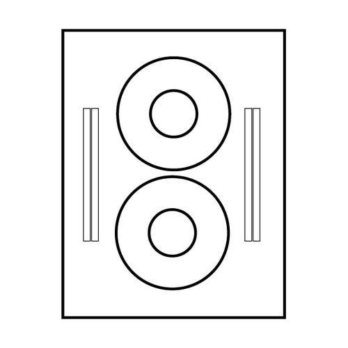 Polyline Matte CD Labels (400 Labels)