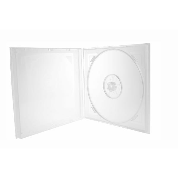 Polyline Economy Polybox CD/DVD Case - Clear - Polypropylene - w/Art Deco Style Etching