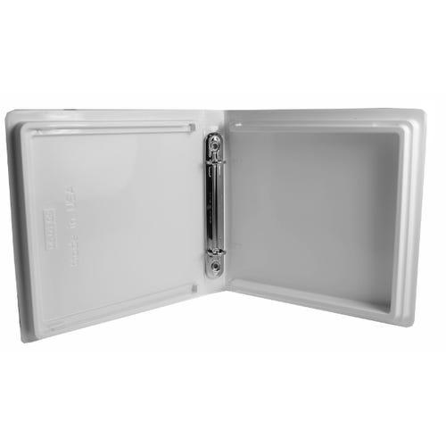 Polyline 2-Ring Disc Binder 90146- 12-Disc - White - Glossy - Vinyl - Overlay