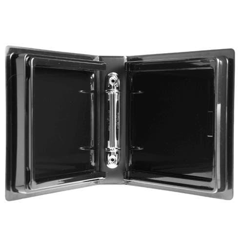 Polyline 2-Ring Disc Binder - 24-Disc - Black - Glossy - Vinyl - Overlay 90186