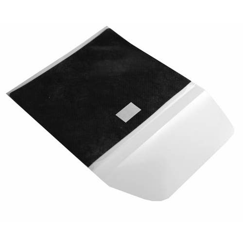 Polyline 2-Pocket Adhesive CDSleeve-Clear/Black Faric Liner-Polypropylene/Resealable-1000pc