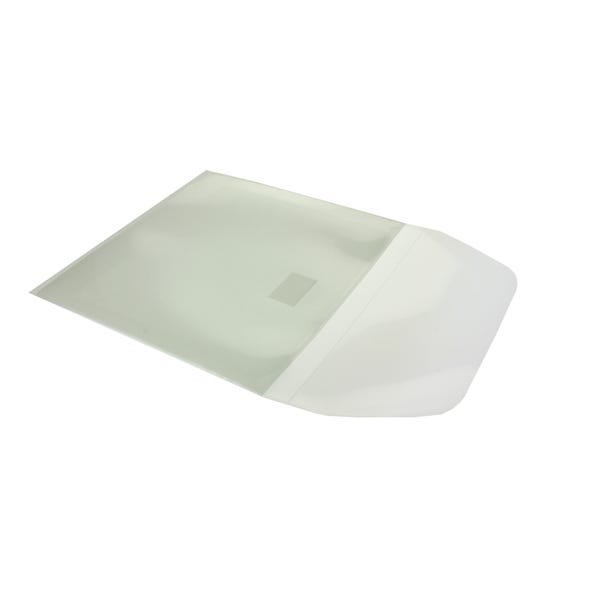 Polyline Adhesive CD Sleeve - Clear - Polypropylene - Resealable Flap - 100pc