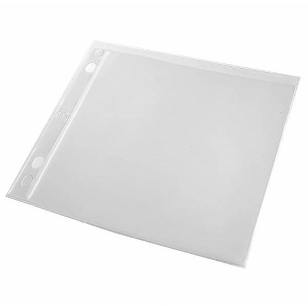 Polyline CD Binder Sleeve - 2- or 3-Ring Binders -Vinyl - No Flap - 2 Pocket - 100 Pack