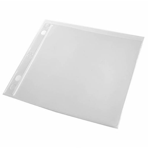 Polyline CD Binder Sleeve - 2- or 3-Ring Binders -Vinyl - No Flap - 2 Pocket - 100 Pack