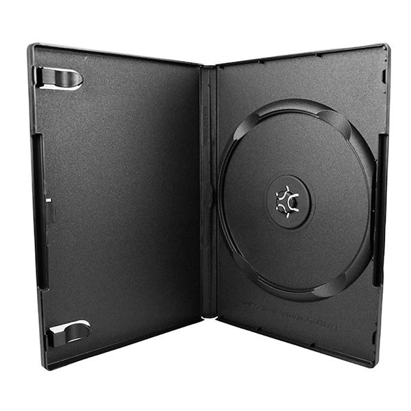 Polyline DVD Case - Black - 14mm - Textured -with Overlay and Literature Clips