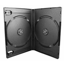 Polyline 2-Disc DVD Case - Black - 14mm - Textured - with Overlay and Literature Clips