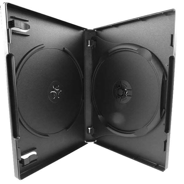 Polyline 3-Disc DVD Case - Black - 22mm - Overlay & Literature Clips