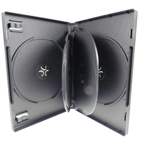 Polyline 5-Disc DVD Case - Black - 22mm - Overlay & Literature Clips