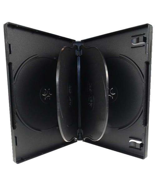 Polyline 6-Disc DVD Case - Black - 22mm - Overlay & Literature Clips