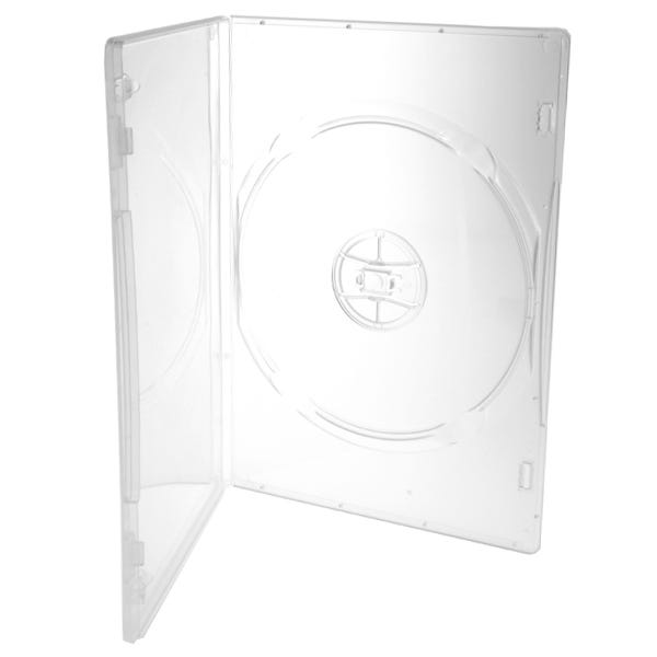Polyline Slim DVD Case - Clear - 7mm - Glossy - 100-Percent Virgin - Automatable - Overlay & Lit Clips