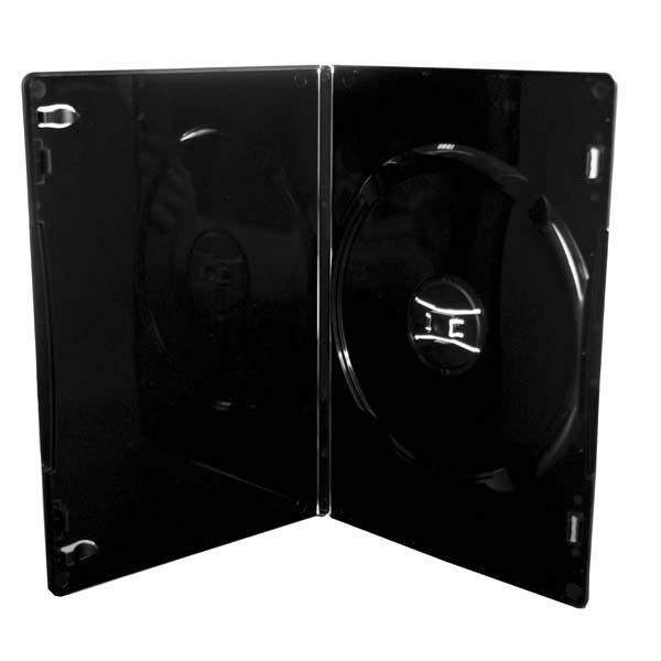 Polyline Slim DVD Case - Black - 7mm - Glossy - 100-Percent Virgin - Automatable - Overlay & Lit Clips