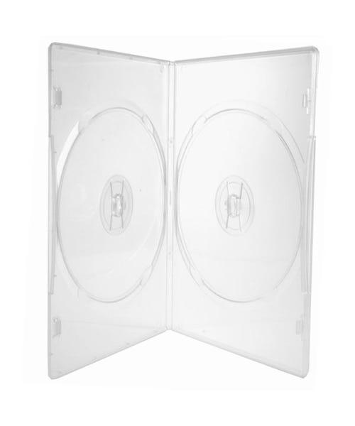 Polyline 2-Disc Slim DVD Case - Clear - 7mm - Overlay