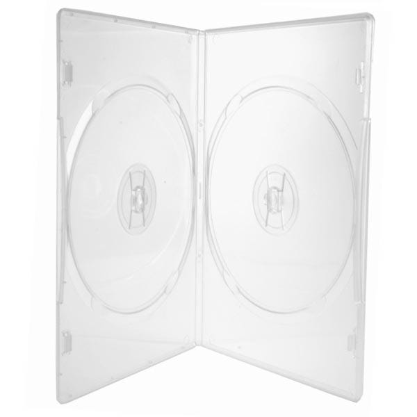 Polyline 2-Disc Slim DVD Case - Clear - 7mm - Overlay