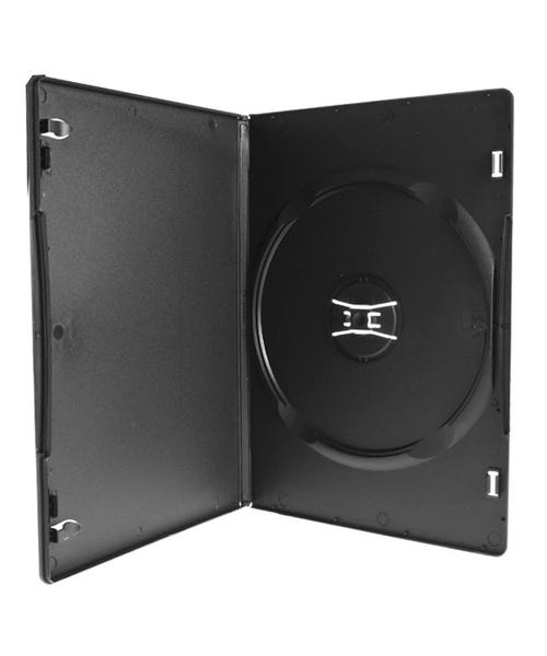 Polyline Slim DVD Case - Black - 7mm - Matte - 100-Percent Recycled - Overlay & Literature Clips