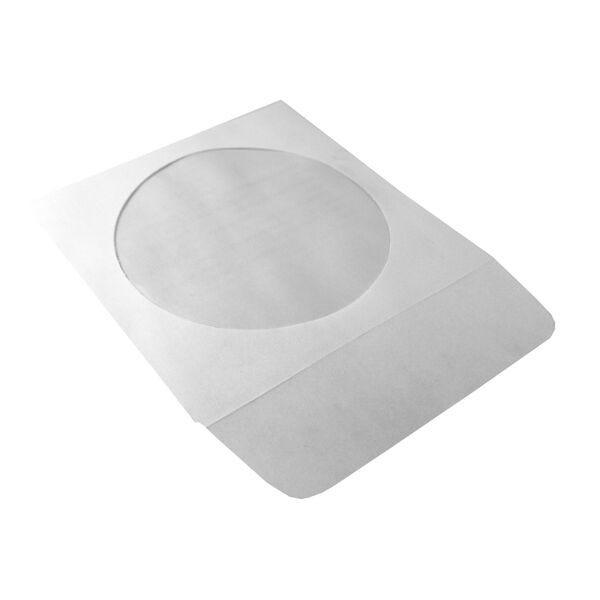 Polyline CD/DVD Sleeve - White - Paper - 1.5in Flap - Peel & Seal Adhesive Strip - Window - 1000 per Case