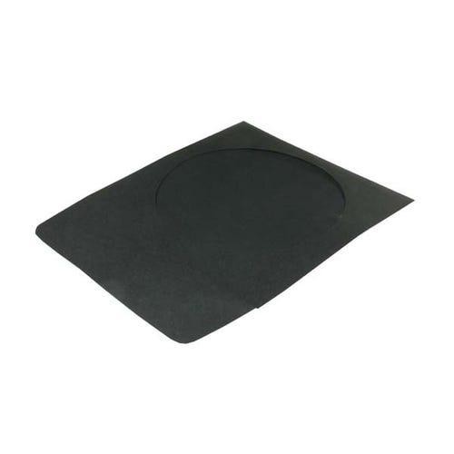 Polyline CD/DVD Sleeve - Black - Paper - 1.5in Flap - 2 mil Polypropylene Window