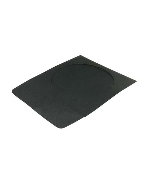 Polyline CD/DVD Sleeve - Black - Paper - 1.5in Flap - 2 mil Polypropylene Window