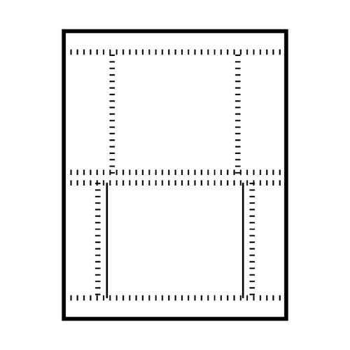 Polyline Perforated Jewel Case Front & Back Insert (100 Inserts)