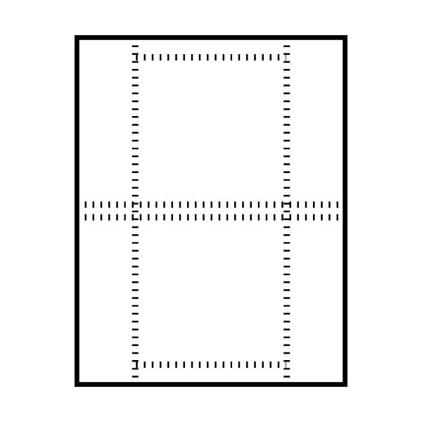 Polyline Jewel Case Insert - 20222C - Front Perforated 200/Pack