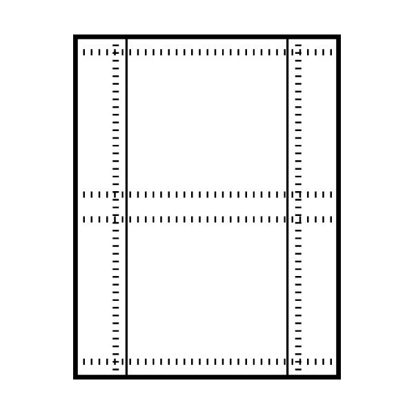 Polyline Perforated Jewel Case Back Insert (200 Inserts)