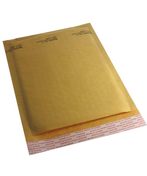 Polyline General Mailer - 6 x 9 in -KraftBubble-Lined - Peel & Seal Flap