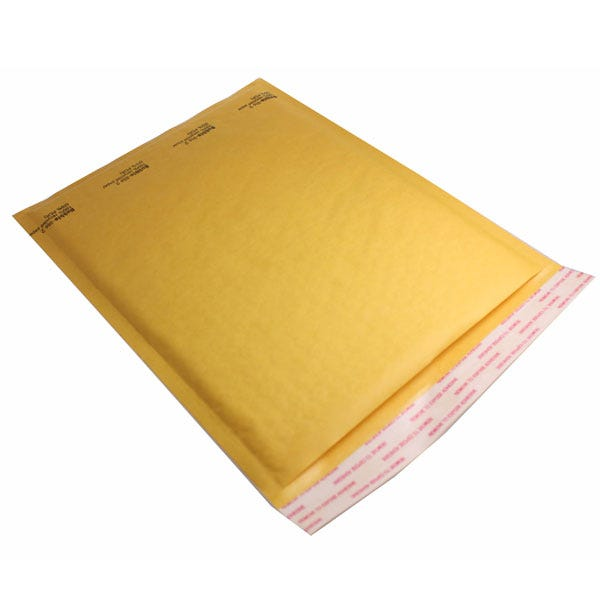 Polyline General Mailer -8-1/4 x 11 in - Kraftbubble-Lined - Peel & Seal Flap