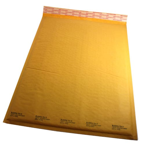 Polyline General Mailer -12 x 18 in - KraftBubble-Lined -Peel & Seal Flap