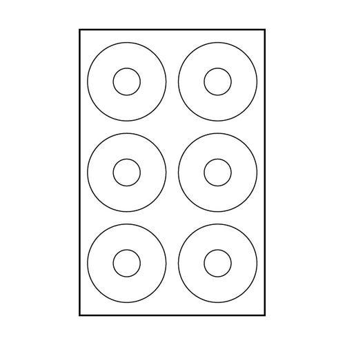 "Polyline Matte CD Labels - 11/16"" Diameter (1800 Labels)"