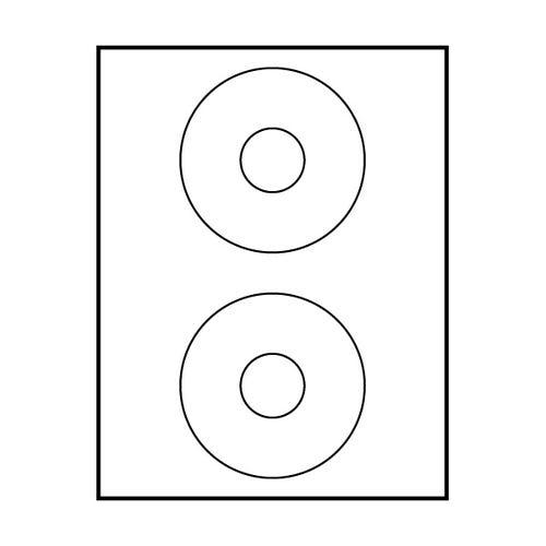 "Polyline Avery Compatible Matte CD Labels -  4-1/2"" (400 Labels)"