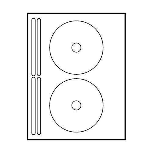 "Polyline Avery Compatible Matte CD Labels - 4-5/8"" (400 Labels)"