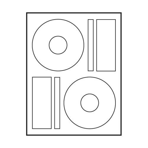 """Polyline Memorex Compatible Matte CD Labels - 4.64"""" (400 Labels)"""
