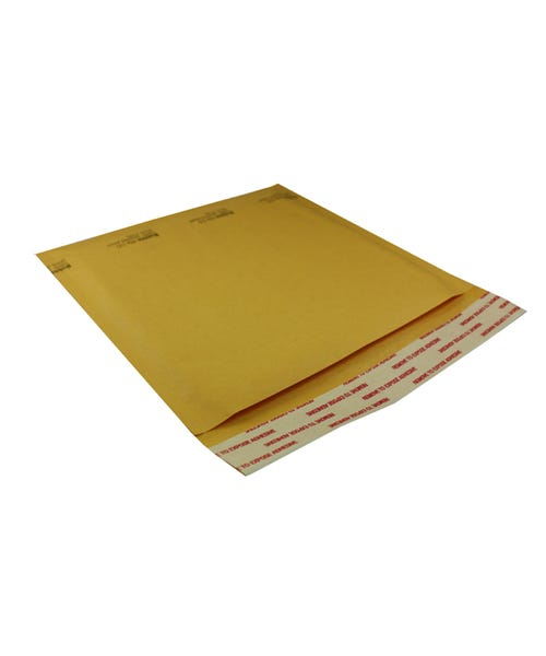 Polyline Standard Jewel Case Mailer -7.25 x 6.75 in - KraftBubble-Lined - Peel & Seal Flap