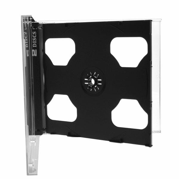 Polyline 2-Disc Standard Jewel Case - Clear Black Tray - Polystyrene - Automatable - Assembled