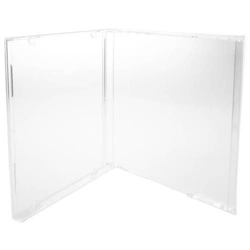 Polyline CD Jewel Box - No Tray - Clear - Polystyrene - Automatable
