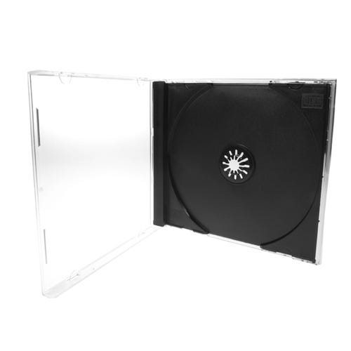 Polyline CD Jewel Case - Clear Black Tray - Polystyrene - Automatable - Assembled