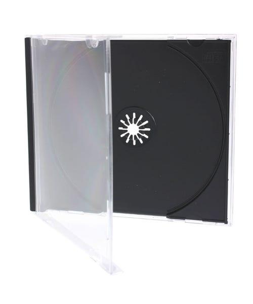 Polyline Standard Jewel Case - Clear Black Tray - Polystyrene - Assembled - Double box