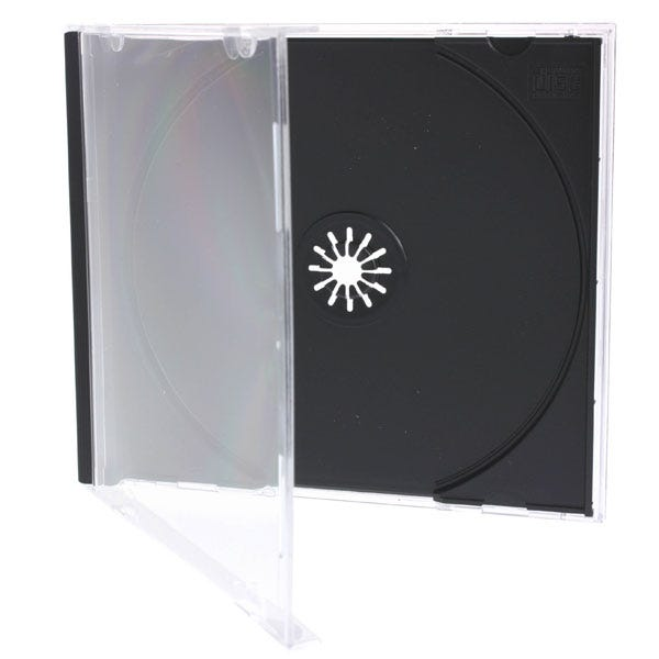 Polyline Standard Jewel Case - Clear Black Tray - Polystyrene - Assembled - Double box