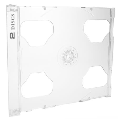 Polyline 2-Disc Jewel Case Tray - Clear - Polystyrene - Logo Imprinted
