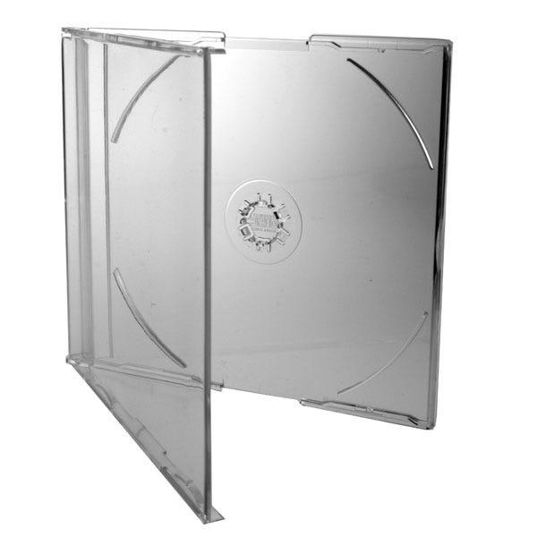 Polyline Slimline 7mm Jewel Case - Clear Clear Tray - Polystyrene - CD Logo on Hub