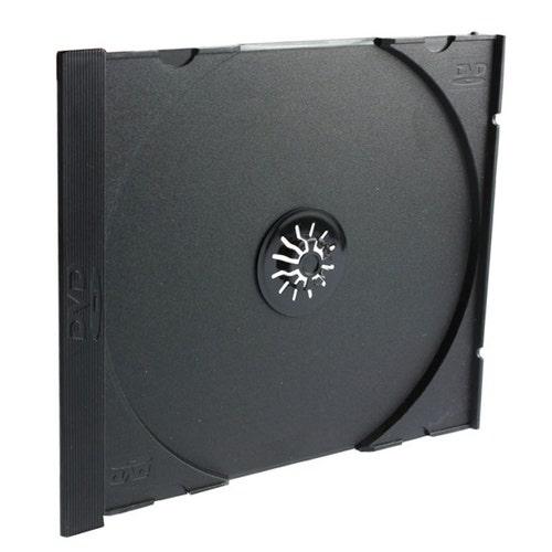 Polyline Jewel Case Tray - Black - Polystyrene - DVD Logo